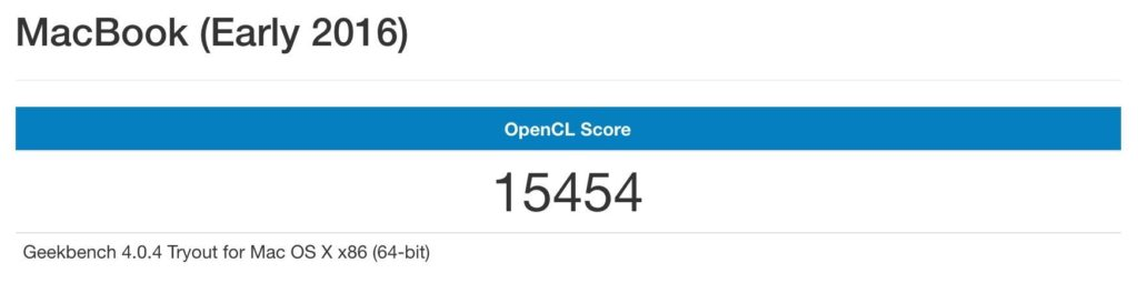 Macbook Geekbench GPU