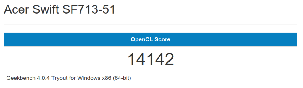 Swift7 Geekbench GPU