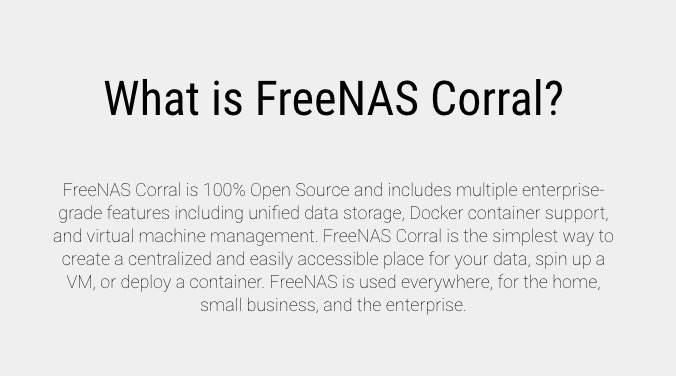 FreeNAS Corral