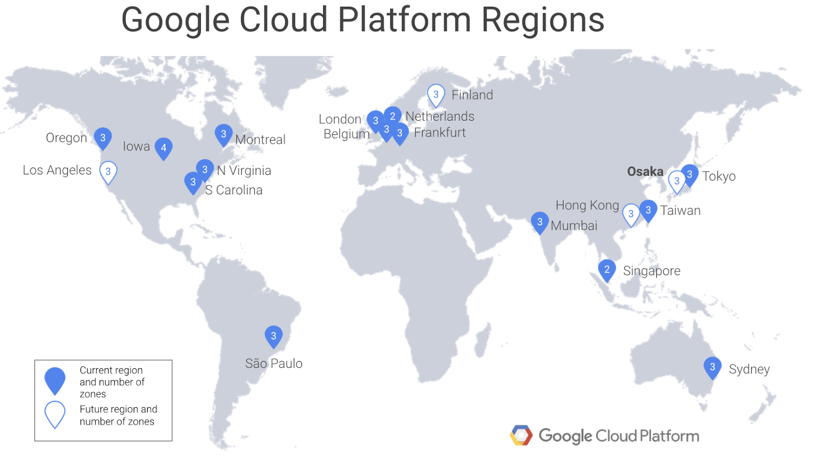 Google Cloud Platform 大阪リージョン
